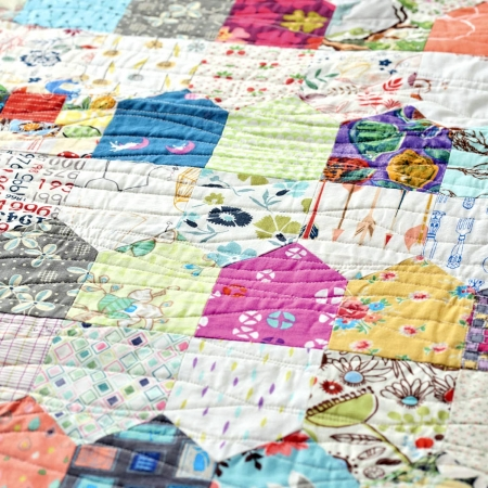 Houses-Quilt,-a-One-Patch-quilt-2