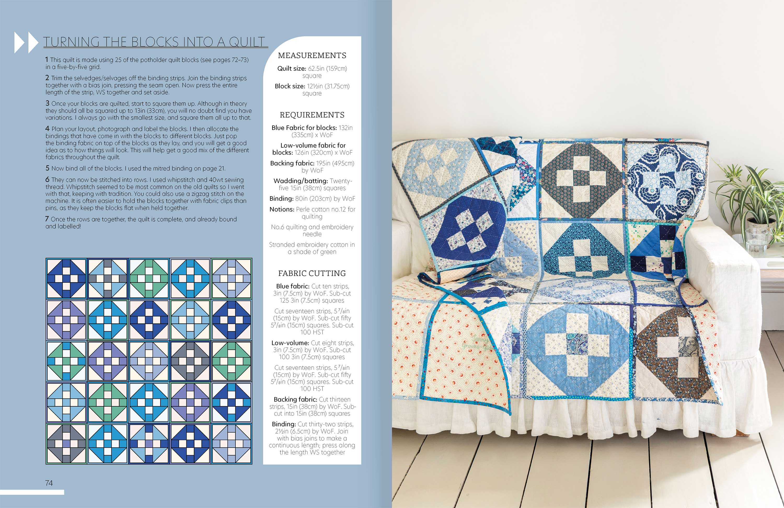 Quilt As You Go p74-5